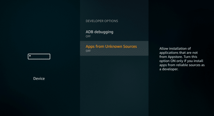 Apps from Unknown Sources Catmouse TV