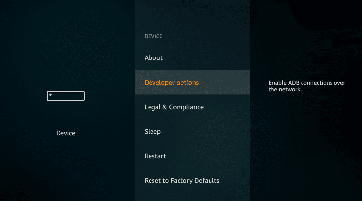 Developer options ckaytv