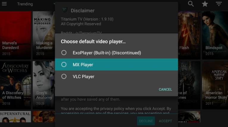 MX Player - Titanium TV APK