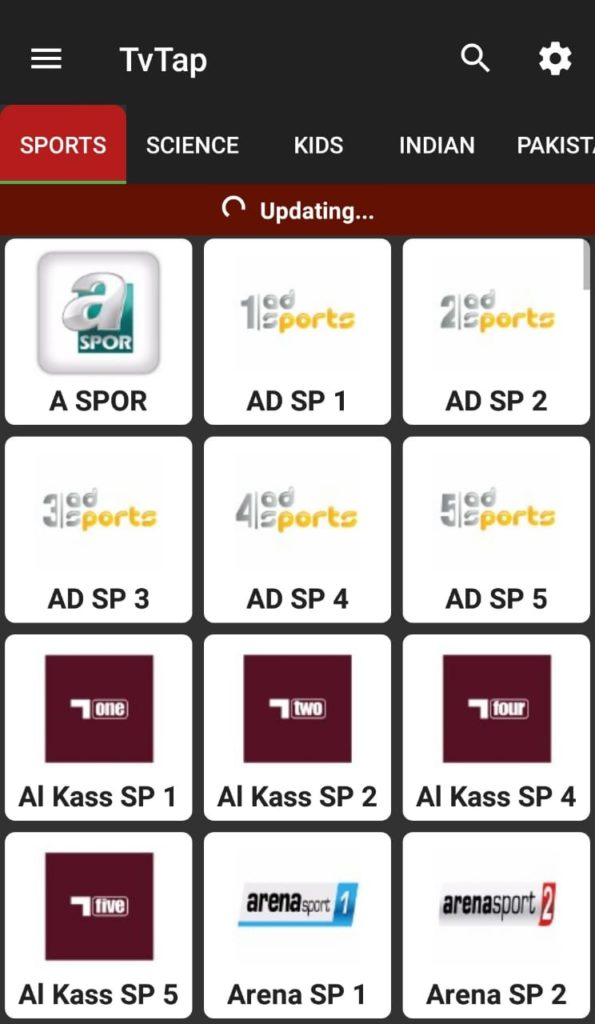 latest TVTAP APK for Android