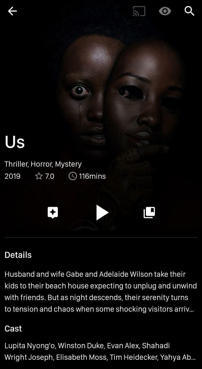 VivaTV Movies App on Android