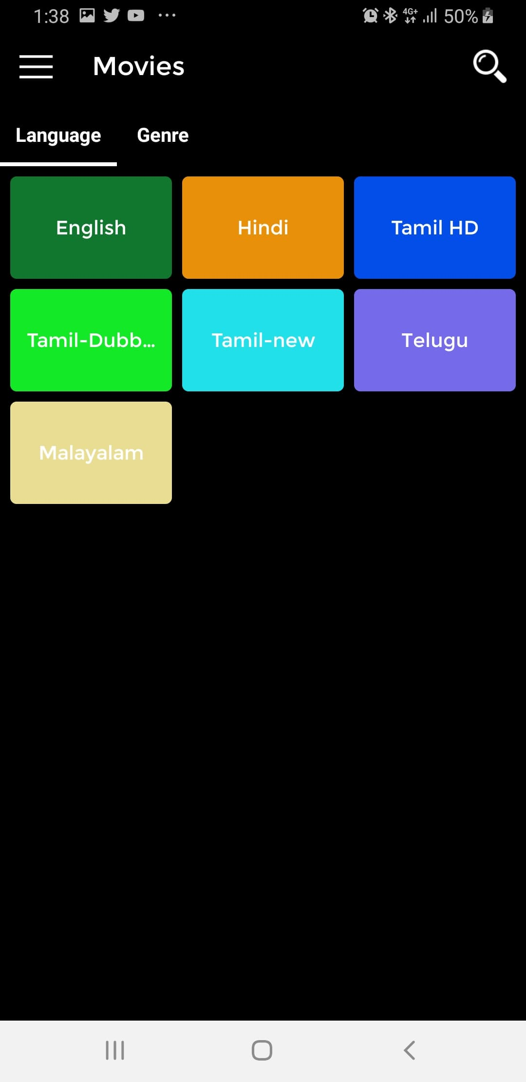 KingoTV Categories