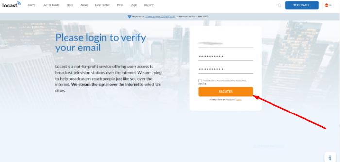 Register Locast App Account FireStick Free