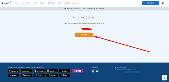 Activation Code - Locast Account HD Live TV Channels