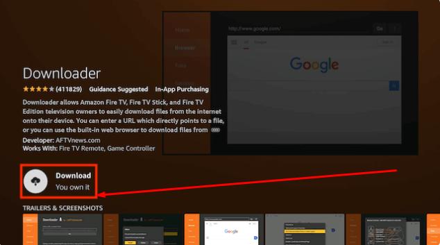 Open Downloader App FireStick