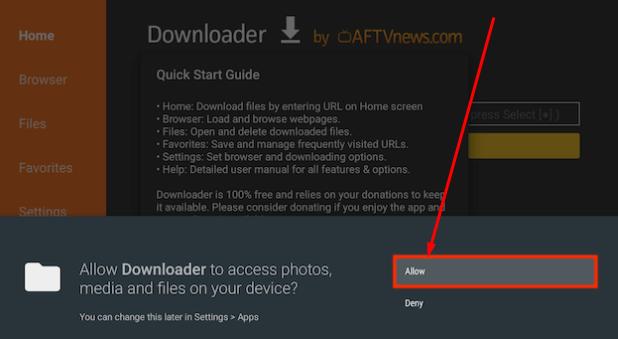 Allow Media Access to FireStick